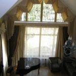 Шторы для арочных окон, салон штор, пошив штор, пошив штор на заказ, заказать шторы